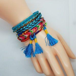 Ethnic Style Bohemian Fabric Tassel Bracelet